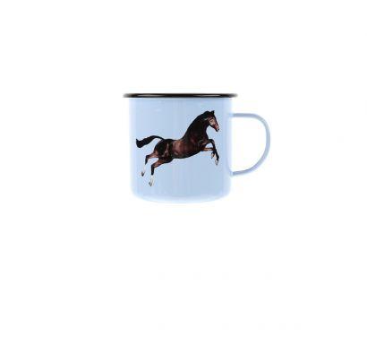 Cup in Enameled Metal Toilet Paper Horse