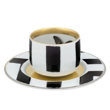 Sol y Sombra Tasse à café avec soucoupe Butterfly