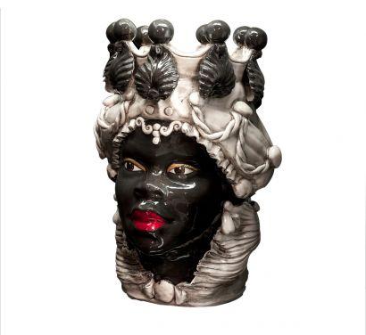 Moro Lady Big Vase Black