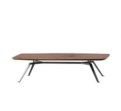 Tie Hexagonal Coffee Table - Heat-treated oak