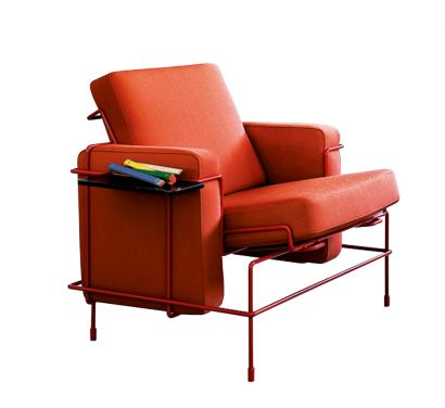 Traffic Armchair - Version Signal Red 5019 - Fabric Orange F-088