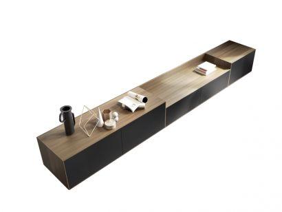 Lauki L1 Suspendend Sideboard Walnut & Graphite