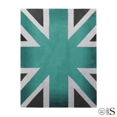 Union Jack Camden Turquoise/CharcoalWhite Tappeto