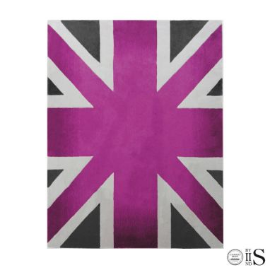Union Jack Camden Pink/Charcoal/White Tappeto