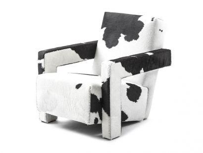 637 Utrecht Armchair - Friesian Upholstery Cassina by Gerrit Thomas Rietveld