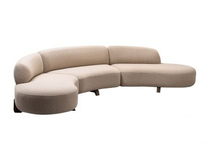 Vao Sofa 380 by Paolo Castelli - Wool Bouclè - 03 Linen