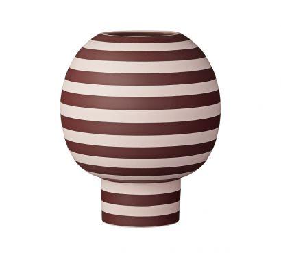 Varia Sculptural Vase rose/bordeaux