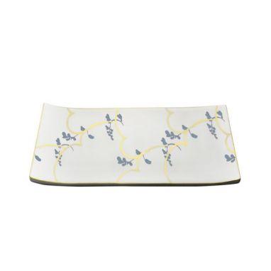 Feston e Cadena Azzurro Plat Rectangulaire 15 cm x 10 cm