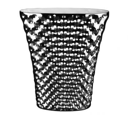 Vibrations Vaso Ovale Platino Titanizzato 32 cm