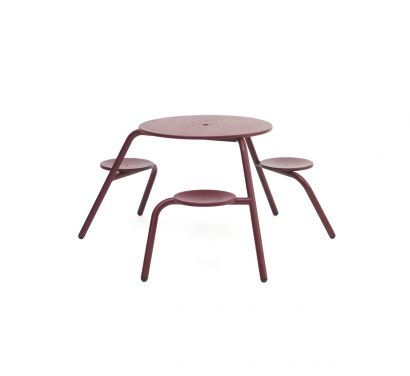 Virus Picnic Table with Holes - Indoor/Outdoor