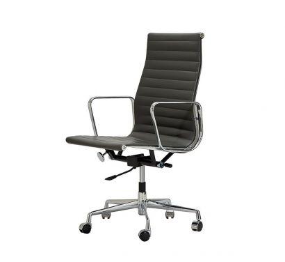 Aluminium Chair EA 119 - Office Chair - Hopsak 66 Nero / Chrome