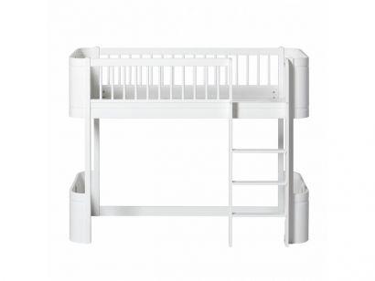 Wood Mini Low Loft Bed - Letto con Soppalco
