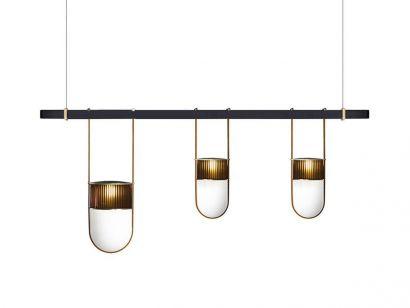 Xi Composition L Suspension Lamp - Amber - Camello