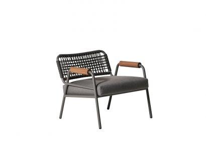 Meridiani Zoe Wood Open Air Lounge Chair